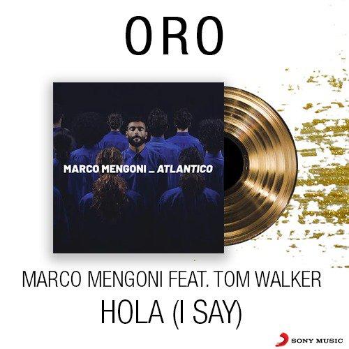 Mega news! 💥 #Hola (I Say) di @mengonimarco feat. @IamTomWalker è DISCO D'ORO 🎉📀