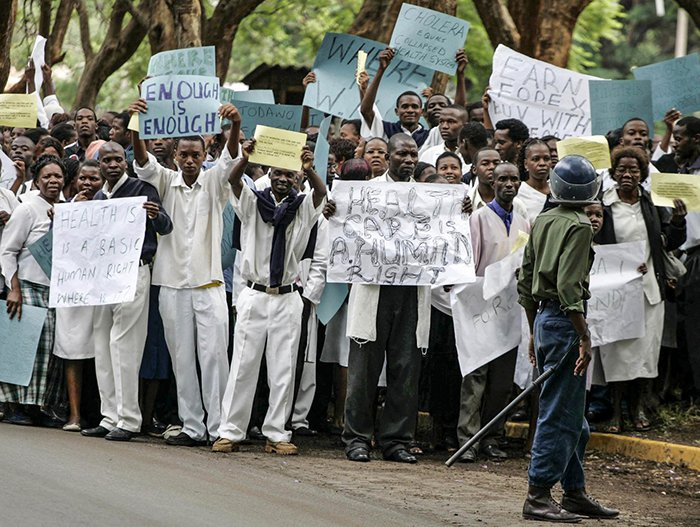 """Image result for Zimbabwe fires 211 striking doctors"""""""