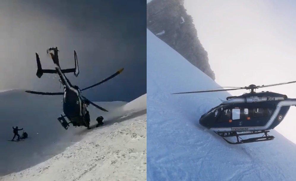VIDÉO - Les images époustouflantes de l'intervention de l'hélicoptère de la gendarmerie lors d'un secours en montagne   →https://t.co/cbae3HrCkI #hautesavoie