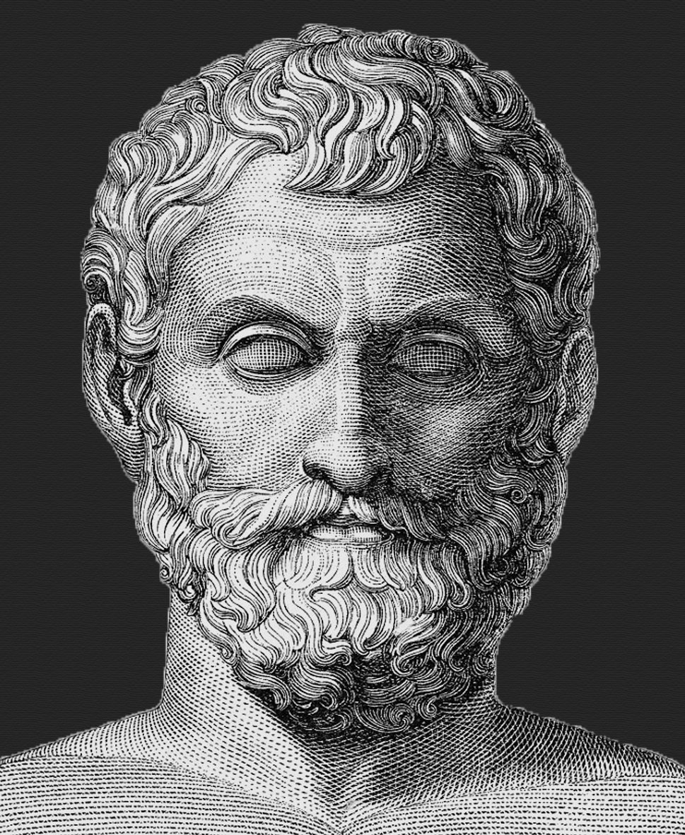 The pre-Socratic philosopher, Thales of Miletus known as the Father of Science believed that for any event, there was a natural cause even if we couldn't see it and he thought that with the perfect knowledge, man can control anything, everything.