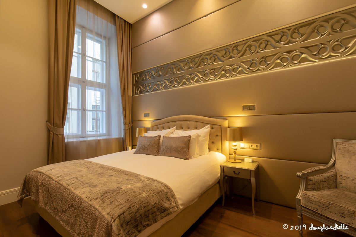 Our suite at Hotel Prestige Budapest