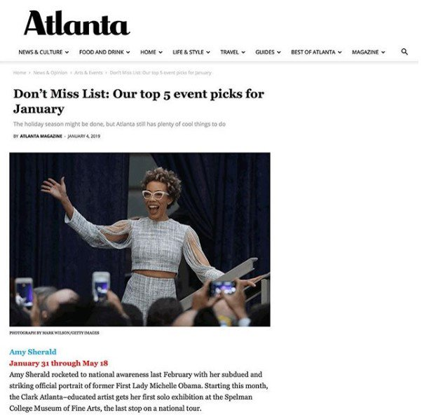 "ICYMI: ""Amy Sherald"" made @AtlantaMagazine's Don't Miss List! #MuseumMonday #SpelMuse #SpelAmySherald       https://www.atlantamagazine.com/news-culture-articles/dont-miss-list-our-top-5-event-picks-for-january/…"