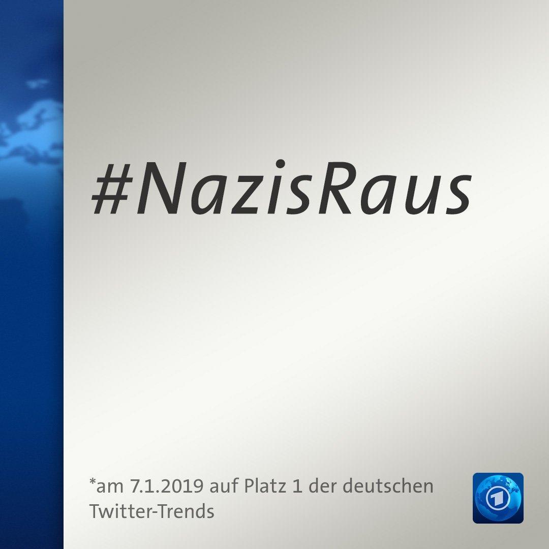 """""""Nazis raus"""" twitterte ZDF-Journalistin Nicole Diekmann am Neujahrstag auf ihrem privaten Account - und bekommt seitdem Mord- und Vergewaltigungsdrohungen. Heute hat #NazisRaus, begleitet mit einer Welle der Solidarität, den ersten Platz in den deutschen Twitter-Trends erreicht."""