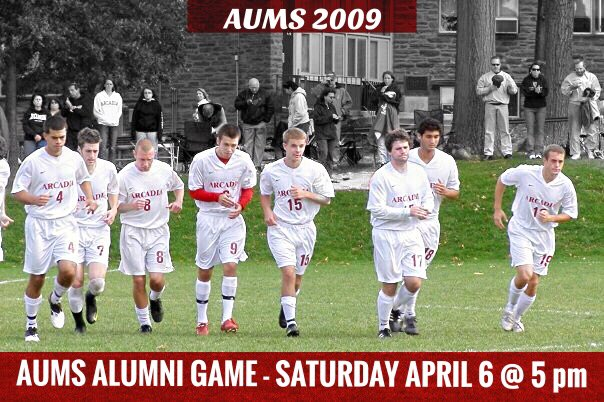 Attention all AUMS Alumni: Registration is now open for this year's alumni game: https://www.arcadia.edu/events/2019/04/06/arcadia-mens-soccer-alumni-game …