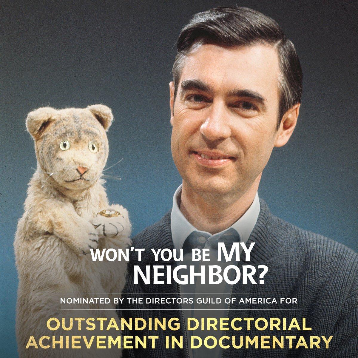 Congratulations to director Morgan Neville on his #DGAAward nomination! 👏