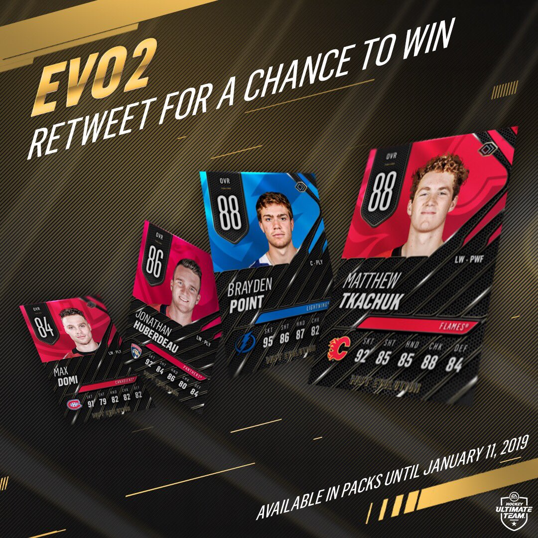 RETWEET for a chance to win these FOUR Evo✌️ items! #NHL19