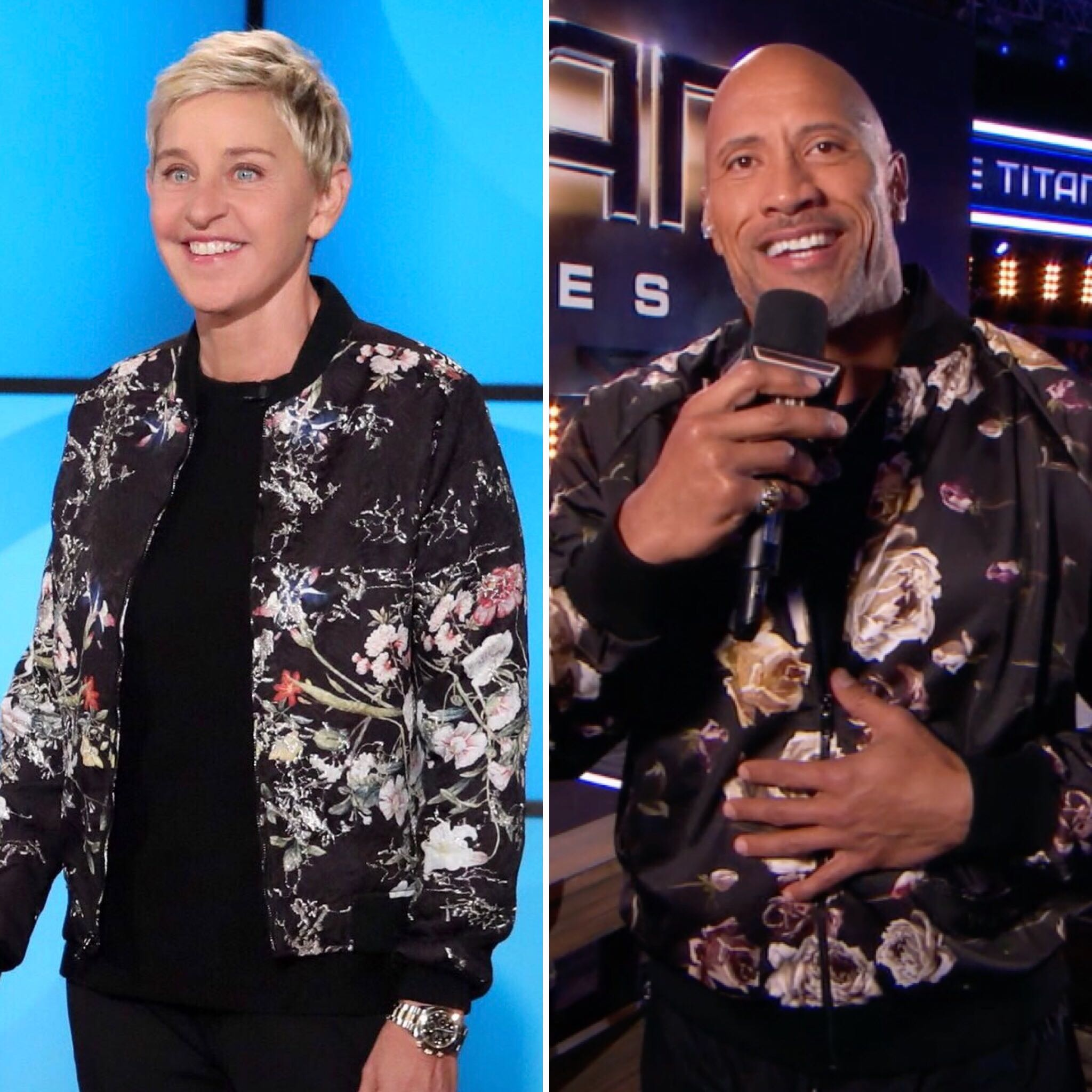 First, I did #GameofGames, then you do #TitanGames. I wore this jacket, then you wore it. What's next? @TheRock https://t.co/vvylyuNm8J
