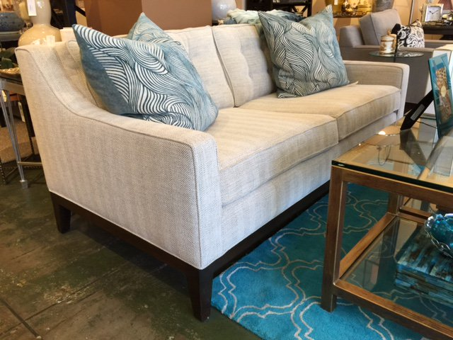 Any #sofa we sell can be made to any length or even as a #sectional or as a sleeper sofa if that's what the client desires. #furnituremarket #furnituredesign
