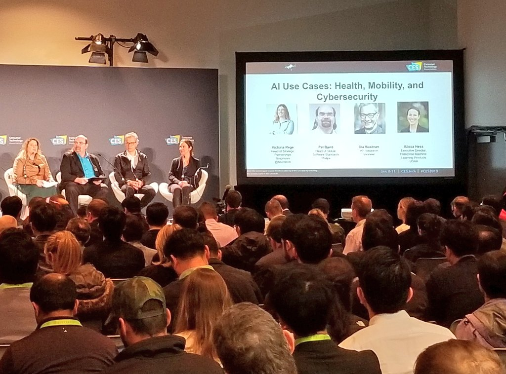 It was a pleasure to host the #AI Use Case panel at #CES2019 - great start to an exciting week.
