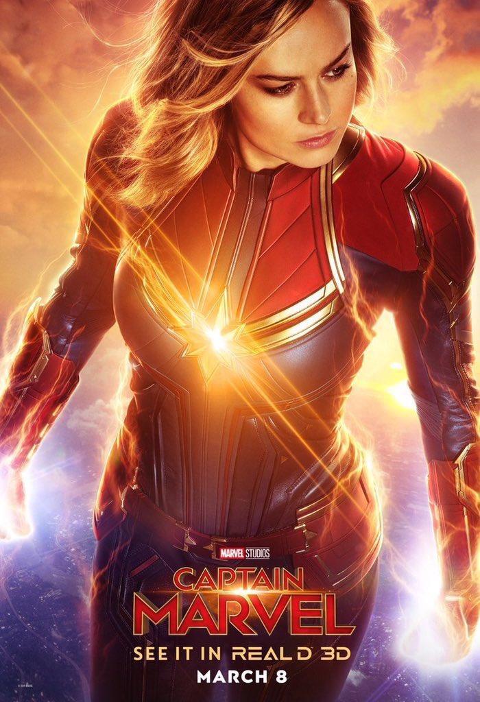 Capitã Marvel - Real 3D Poster