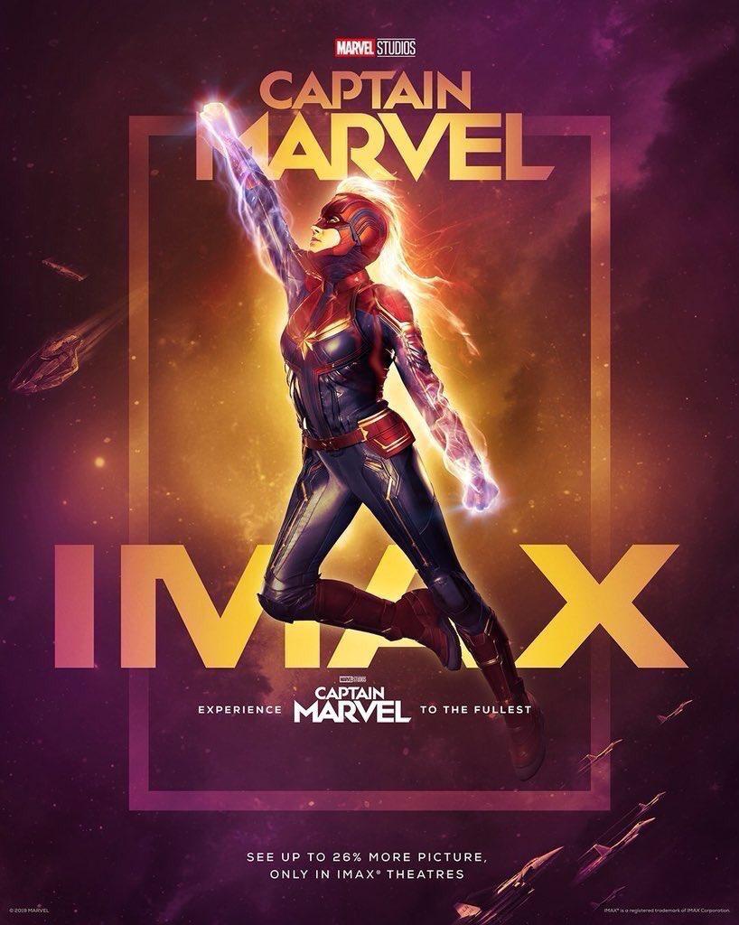 Capitã Marvel - Imax Poster