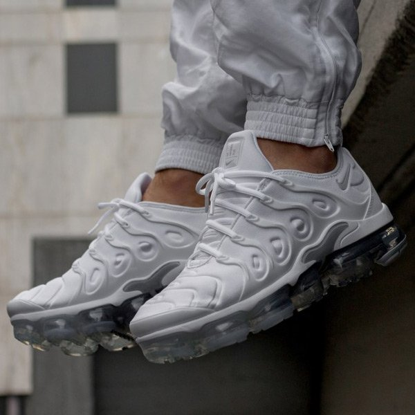 73a0262e8 Select sizes for the white/wolf grey-pure platinum Nike Air VaporMax Plus  are UNDER retail at $144.99 + FREE domestic US shipping!