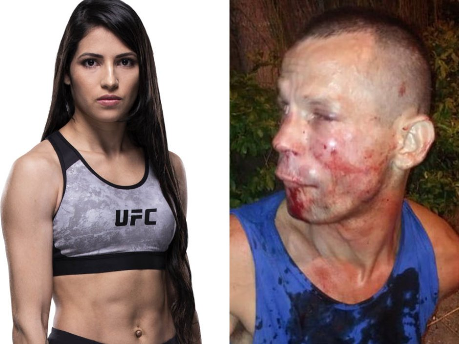 A would-be thief tried to rob a woman standing on her own in Rio. Turned out she was #UFC strawweight fighter Polyana Viana, who proceeded to clobber and restrain the mugger before police arrived https://t.co/TJDuQ3jgKq