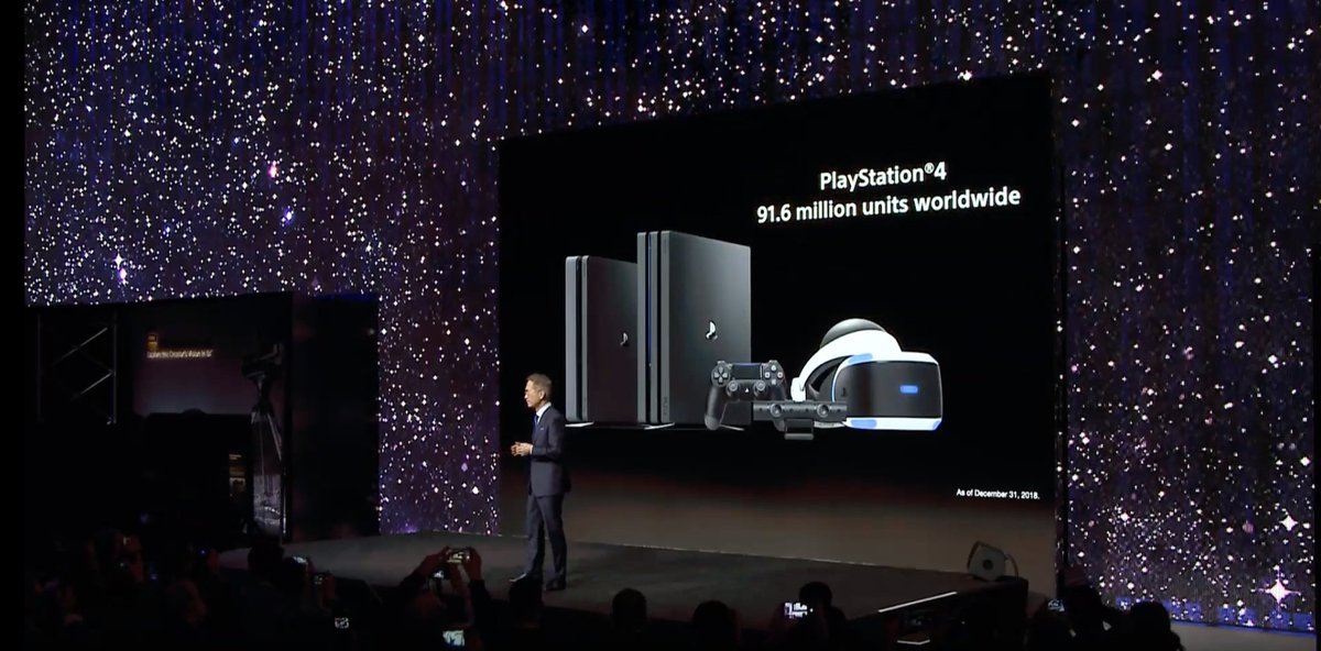 91 million @playstation 4 units sold to date, over 5.6 million sold over holidays. #CES2019