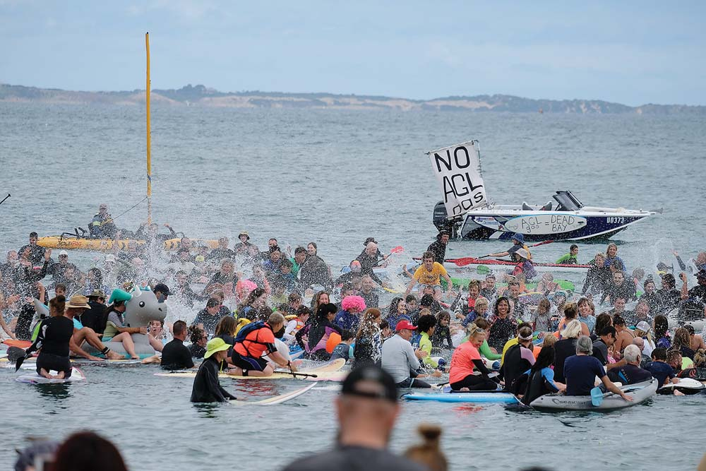 sunday may not have been the summers best beach day but that did not deter hundreds of people going to the pines beach
