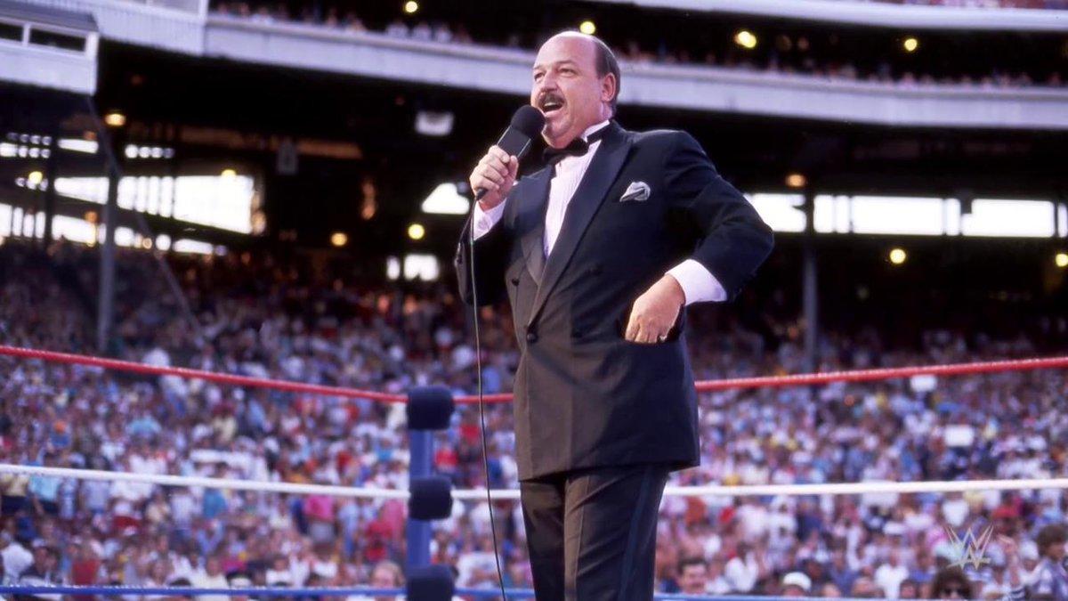 """Thank you, """"Mean"""" Gene Okerlund. #Raw"""