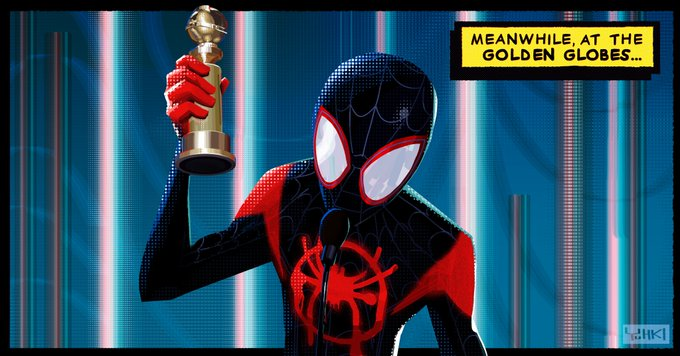 Meanwhile, in another, another #SpiderVerse #GoldenGlobes (via @yuhkidemers) Photo
