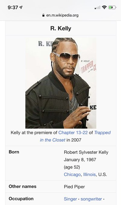 So who s going to wish R. Kelly a happy birthday tomorrow.