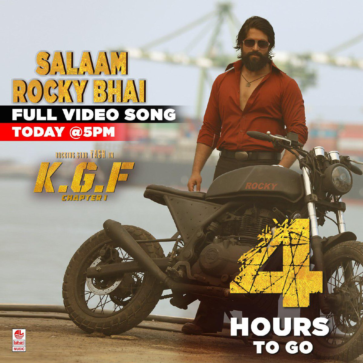 4 hours to go for #SalaamRockyBhai full video song from #KGF