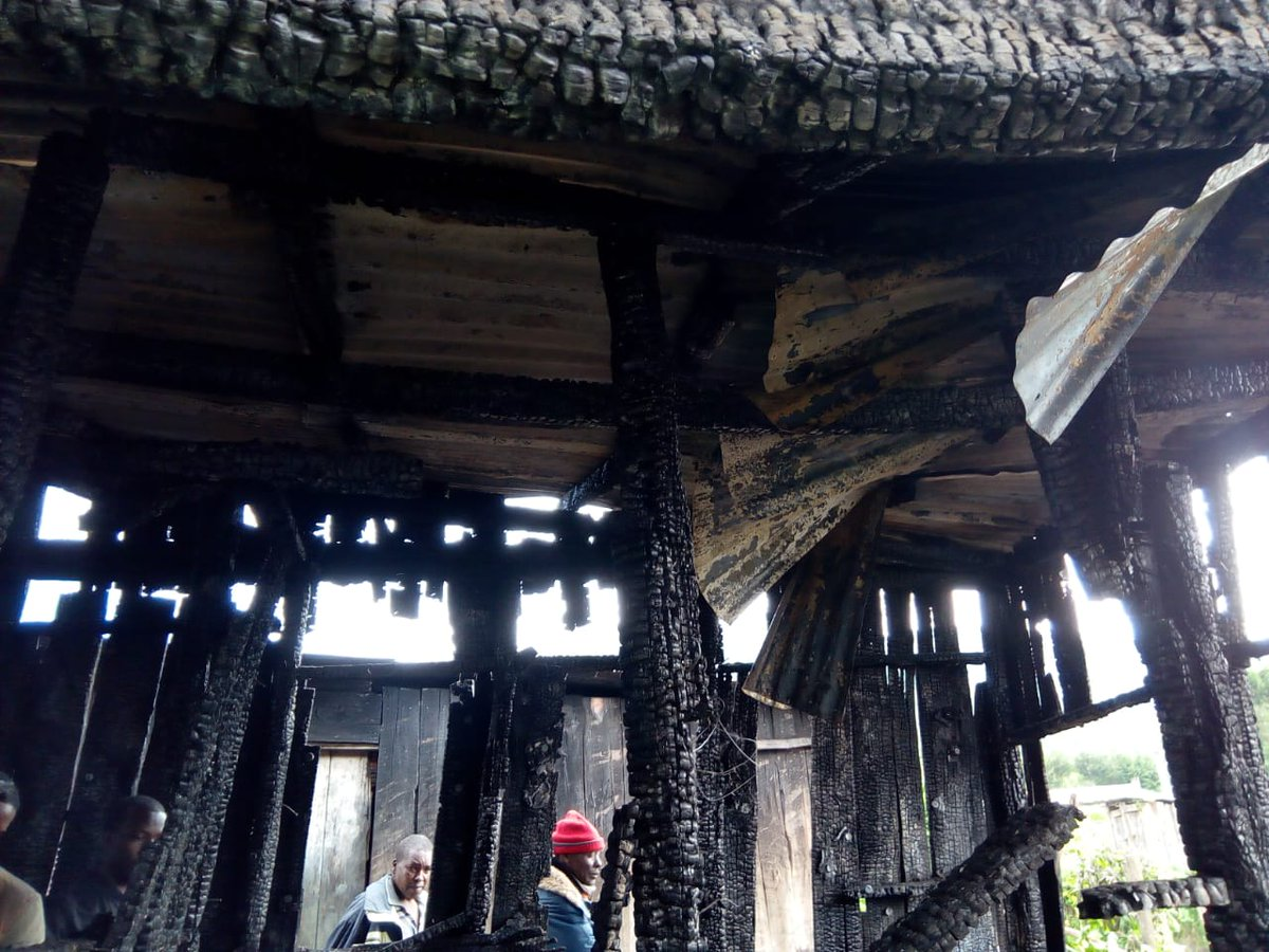 Tales of a house of timber has burnt down the family of 5 to death