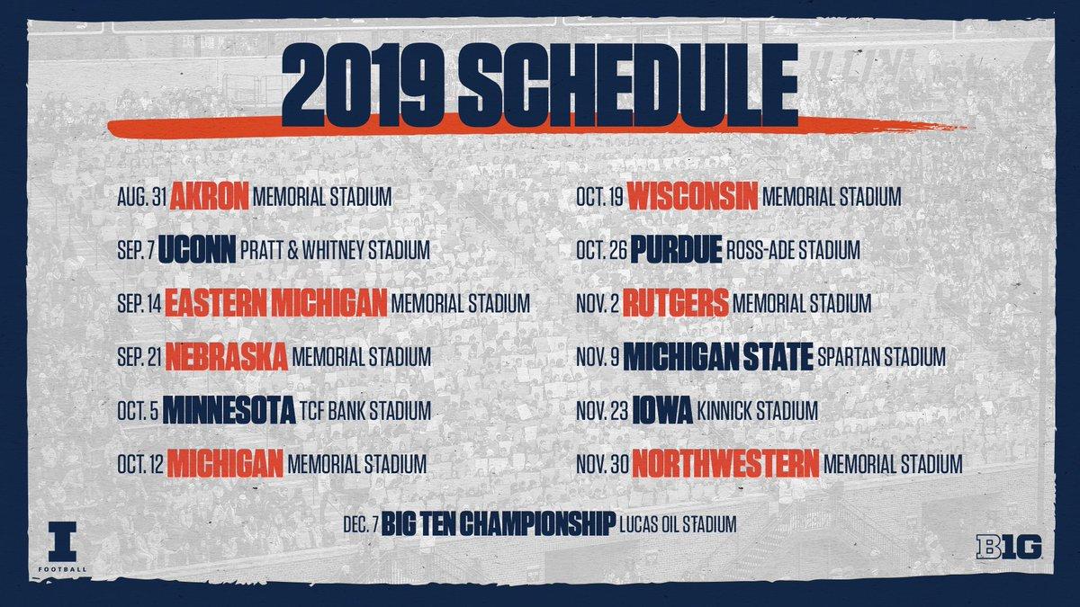 Illini Football Schedule 2019 Illinois Football on Twitter: