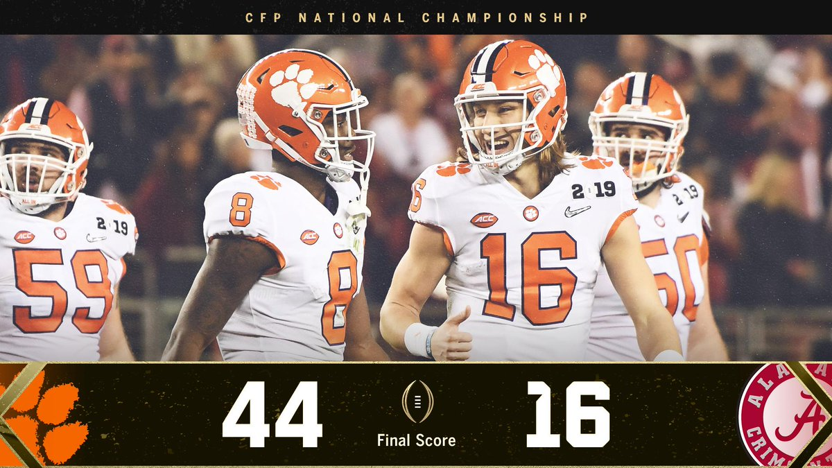 THE CLEMSON TIGERS ARE THE NATIONAL CHAMPS! 🏆