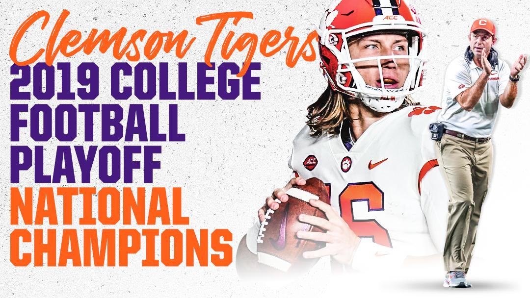 ALL IN!  Clemson dominates Alabama to claim its 2nd #NationalChampionship in 3 years. https://t.co/IWuhx6WkXu