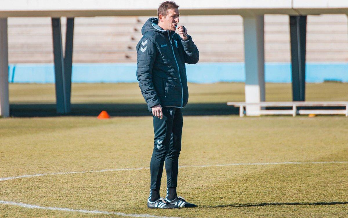 Ramis, durante un entrenamiento del Albacete de esta semana (Foto: AB).