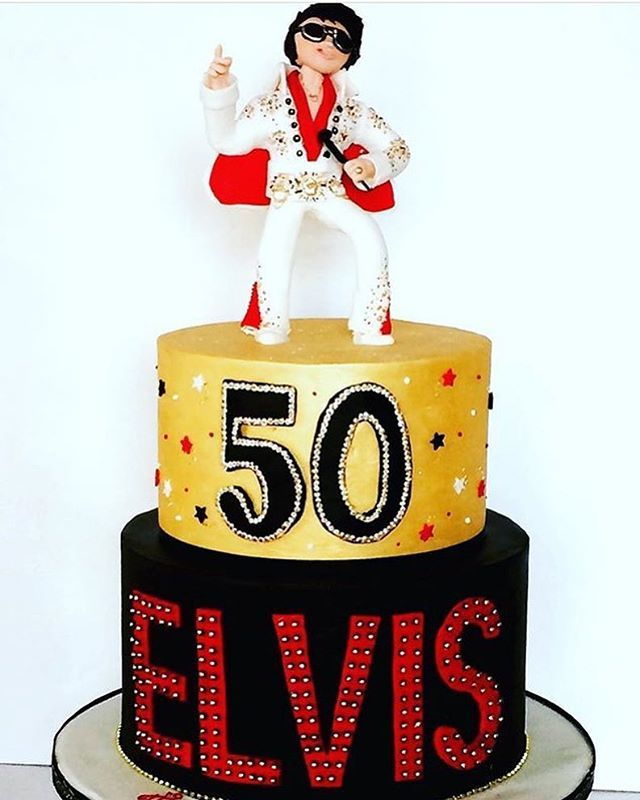 Fantastic Lesley Anne Cake Design On Twitter Elvis Would Have Been 84 Birthday Cards Printable Inklcafe Filternl