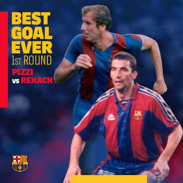 ⚽ #BarçaBestGoalEver �� Hoy, Pizzi �� Rexach ��  ¡Vota aquí! ���� https://t.co/TzRIircc78 https://t.co/ybbxUPOKaj