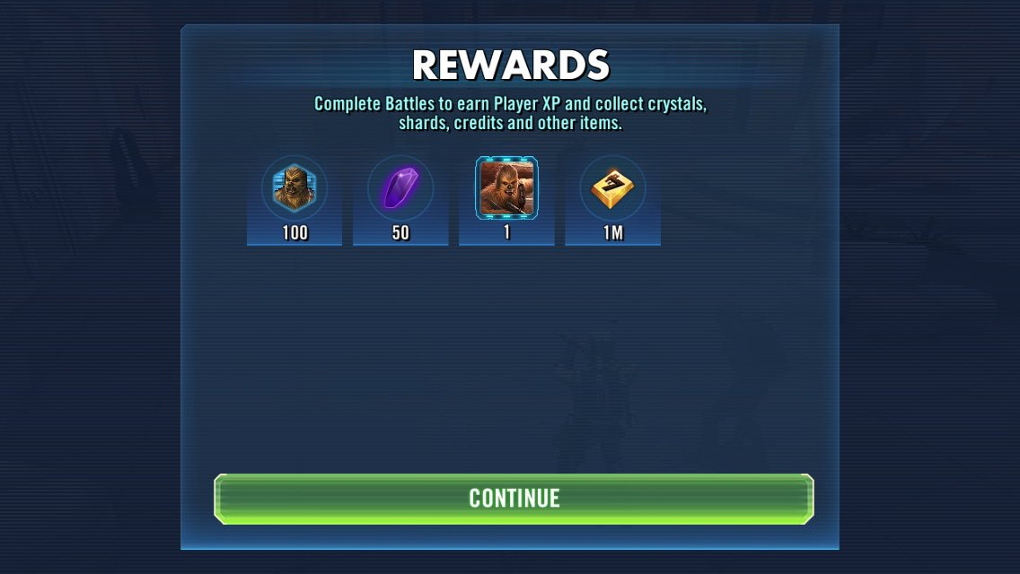 Yessssssssss! Only took 10 days of trying with Boba lead! #SWGOH #StarWarsGalaxyofHeroes