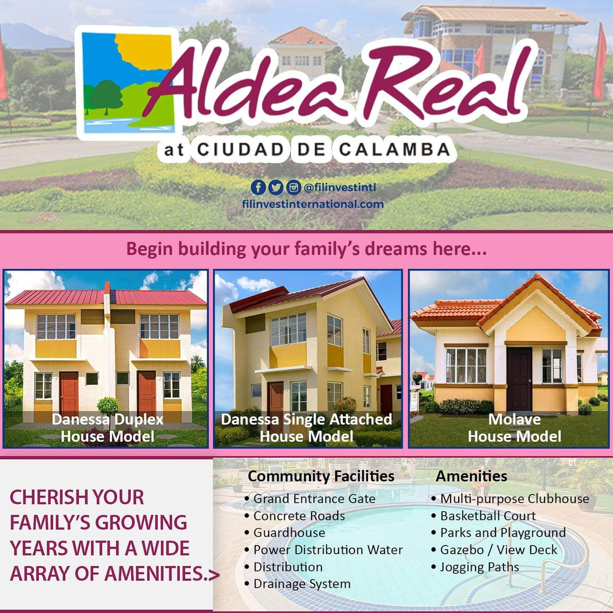 Hum to the natural beauty of the country side. At Aldea Real Filinvest, everything is nice and quiet.  For inquiries on Aldea Real, you may send us a message.  #Filinvest #FilinvestInternational #OFW #Investment #RealEstate #Opportunity #RentalIncome #ExtraIncome #Family https://t.co/cqtaT7xn9q