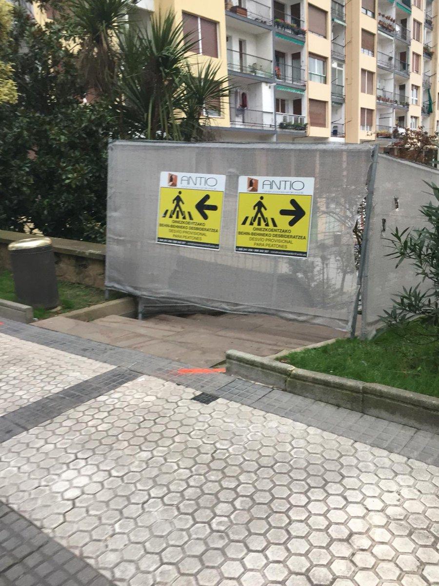 [EUS] hasi dira Lizeo-Labeaga igogailuko obrak [CAS] empiezan las obras del ascensor Lizeo-Labeaga #urretxu #obrak #irisgarritasuna #accesibilidad