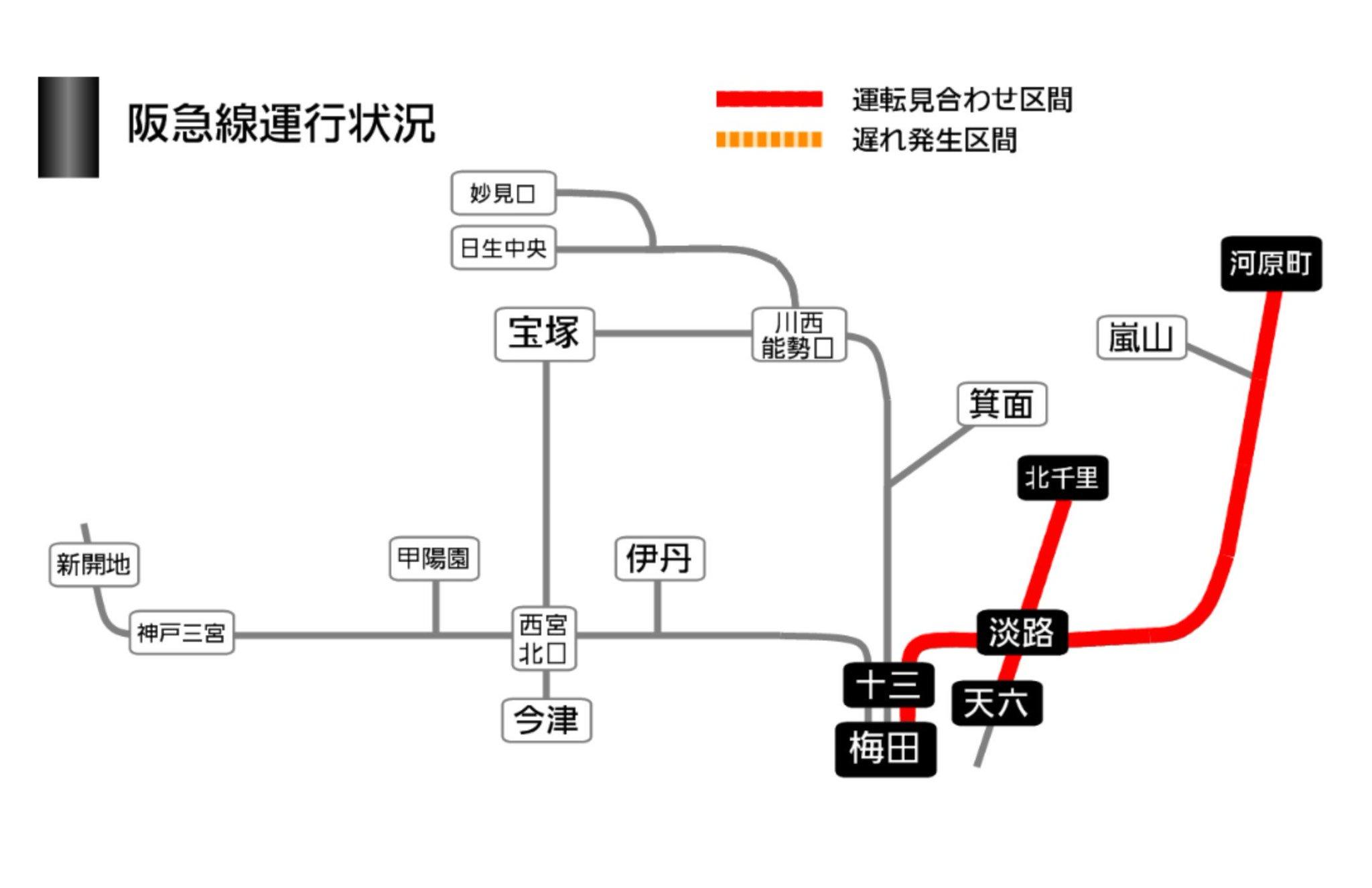 画像,阪急京都線、とうとう全線に。淡路駅 ポイント故障 https://t.co/YvKeg2HeTX。