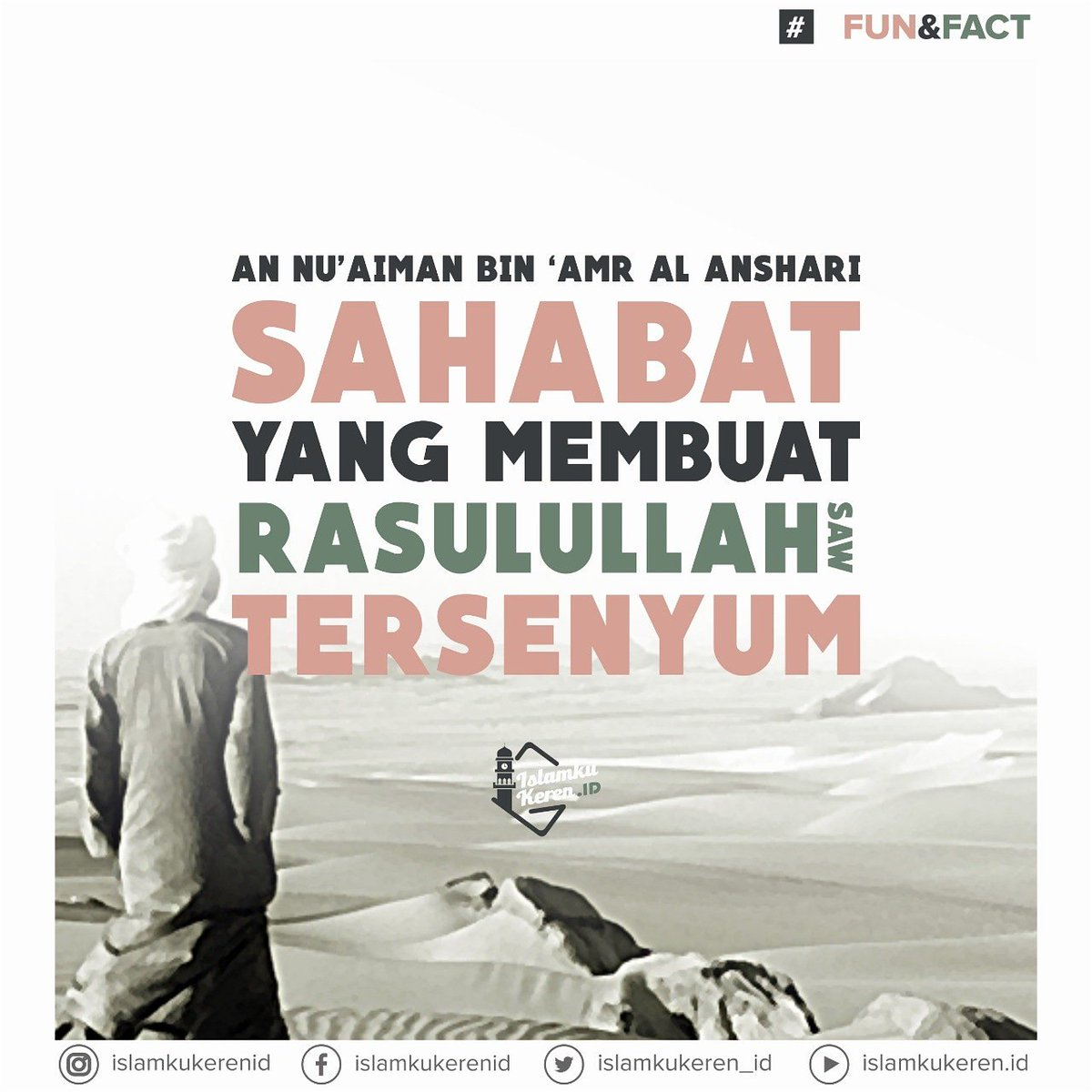 An Nu'aiman Bin 'Amr al Anshari: Sahabat yang membuat Rasulullah saw tersenyum. #IslamDamai #IslamKuKeren @khuddamID @LajnahIndonesia