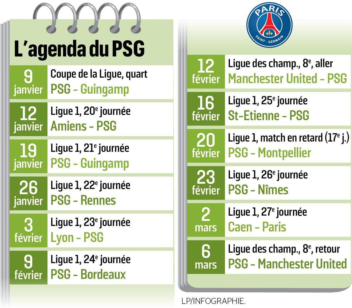 Psg Calendrier Match.Le Parisien Infog On Twitter Le Calendrier Charge Du Psg
