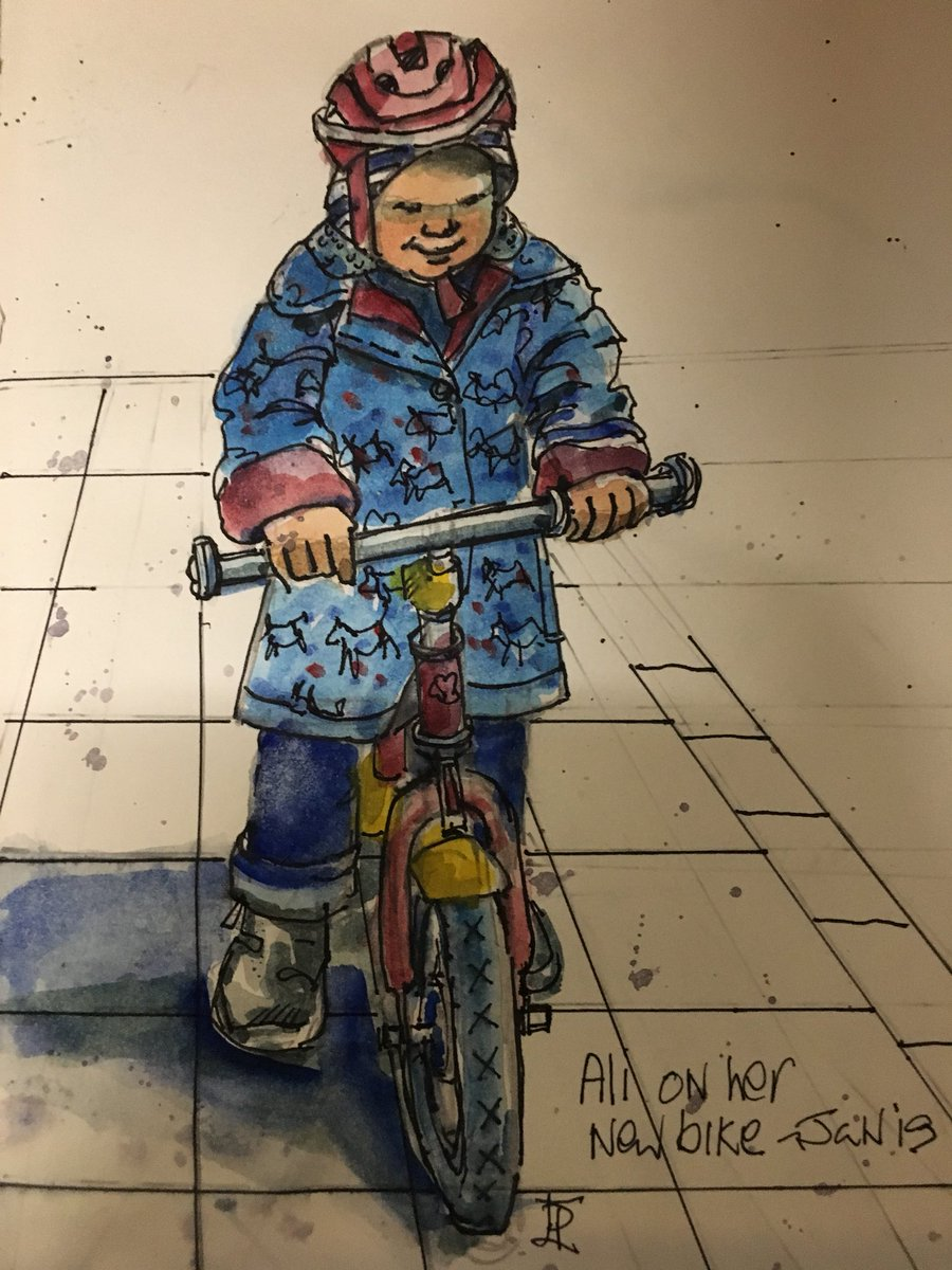 On yer bike~ Ali gearing up for 2019🚴‍♀️! #sketchjanuary #thedailysketch