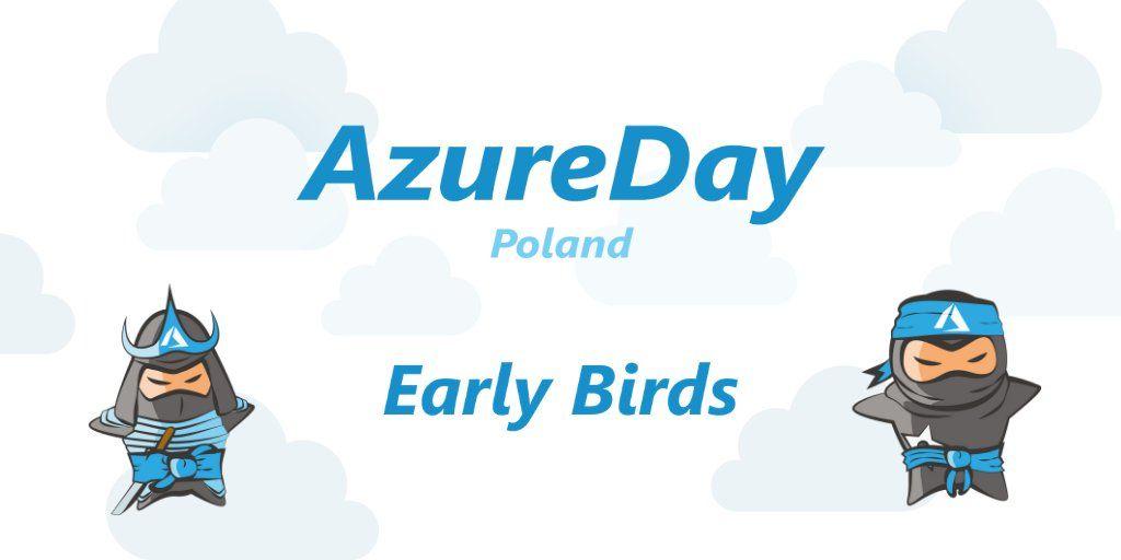 Ruszyła rejestracja na #AzureDay Poland 2019 - https://t.co/KKacdeVdiT Jeszcze jest kilka biletów Early Birds w lepszej cenie! #Azure #MVPBuzz https://t.co/dAtHglRHW9