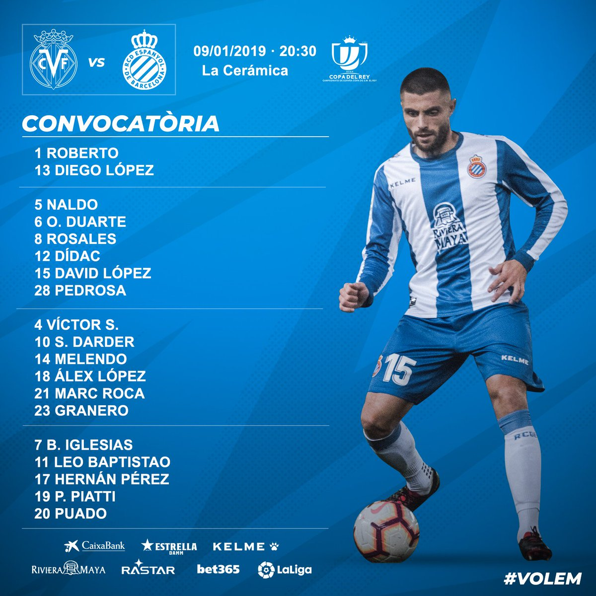 DwYuYtpXcAALzj6 Javi López fuera la convocatoria para la Copa ante el Villarreal - Comunio-Biwenger