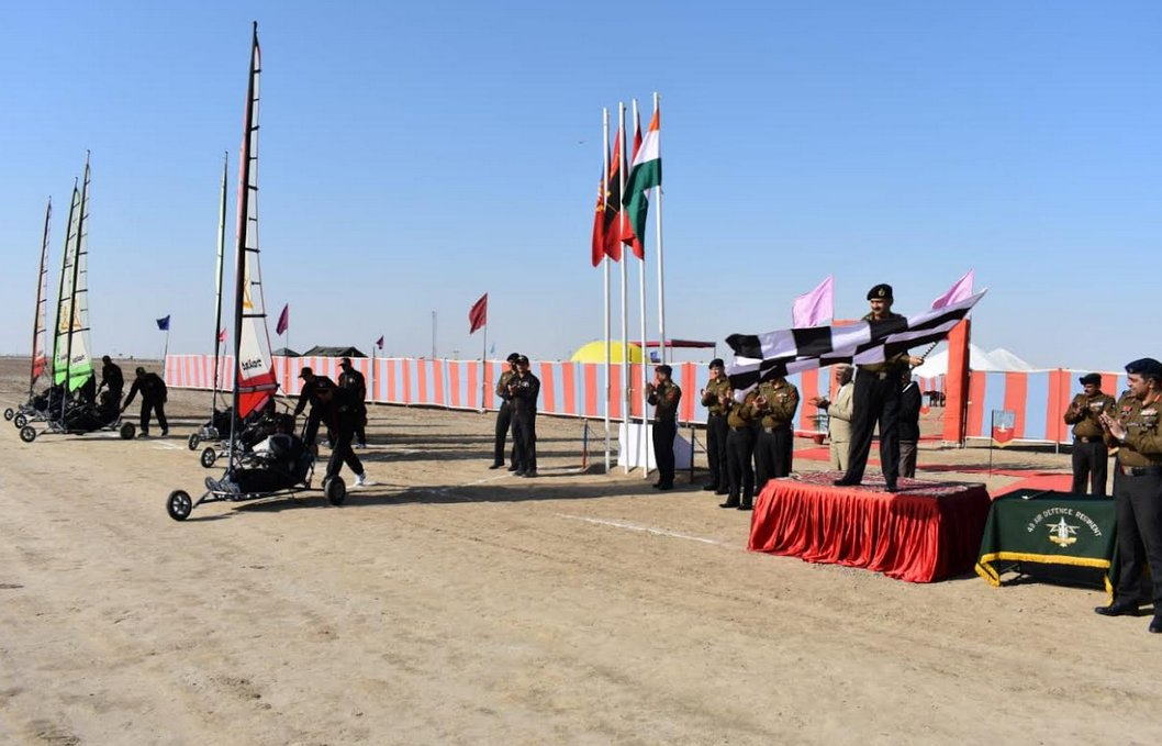 Land yachting expedition of Army's air defence wing flagged off in Rann of Kutch