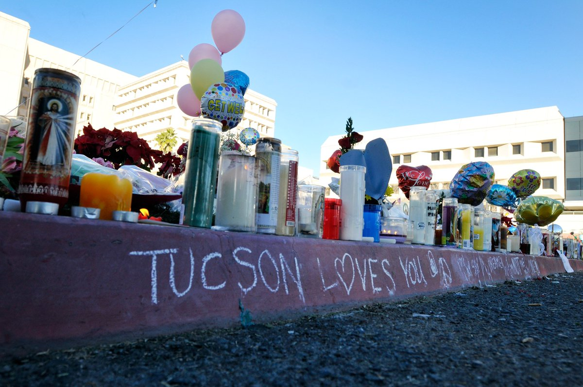 I'm in Washington today, but my heart is in Tucson. Eight years ago, six lives were stolen outside a Safeway. I was shot in the head. Another 12 were injured. Though I will never make sense of that day, I've dedicated my life to making our communities safer.