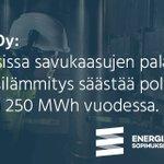 Image for the Tweet beginning: Vastuullisten energiankäyttäjien joukossa @NivosOy: Savukaasujen