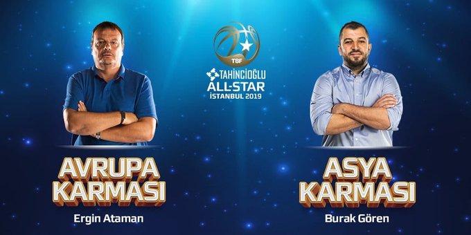 Tahincioğlu All-Star 2019 Asya karmasının yıldızları baş antrenörümüz ve tüm staff ekibimize emanet!💪🏻😎 #TahincioğluAllStar2019 Fotoğraf