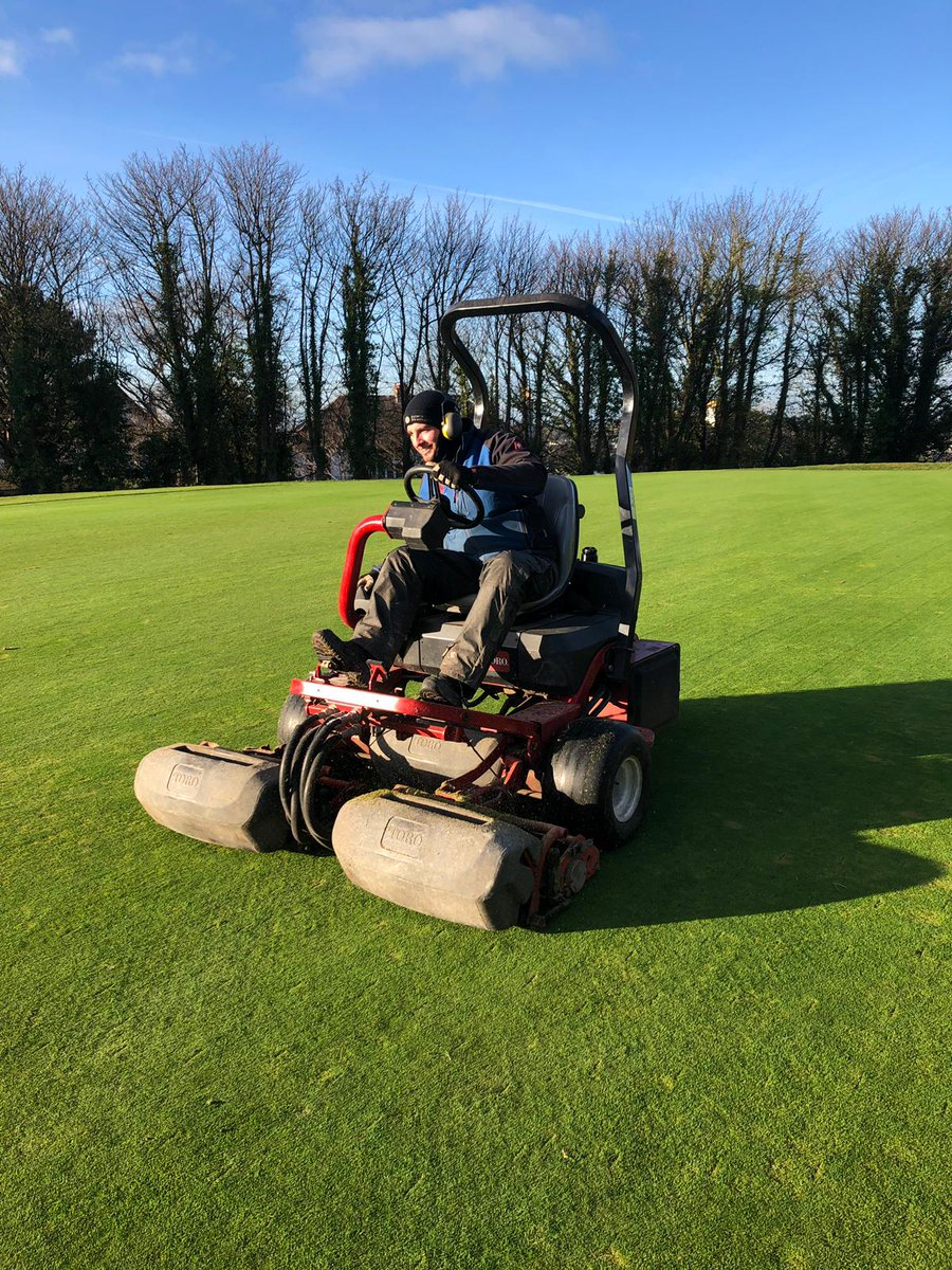test Twitter Media - Perfect conditions for some work on the greens today. All greens spiked and scarified then followed by verti drain and chisel tines. #SuccessfulDay https://t.co/Py9ut6QHme