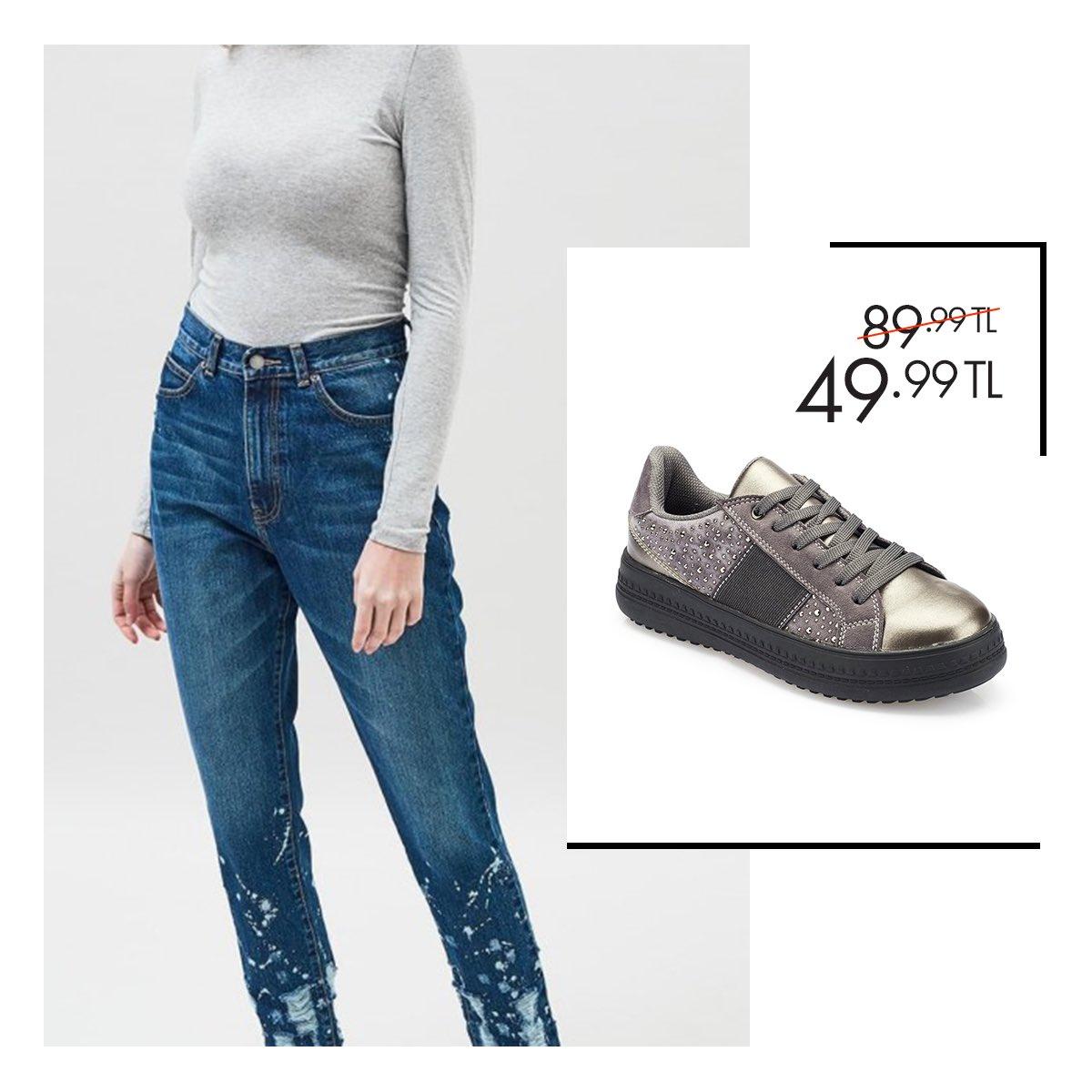 Sneakerın mevsimi olmaz! Polaris'in parlak detaylı sneakerlarıyla günlük stilinizde bile tüm gözler üzerinizde! Gri Kadın Ayakkabı 36-40 Numara 49,99 TL 🔎 100335631 http://bit.ly/2zITExC