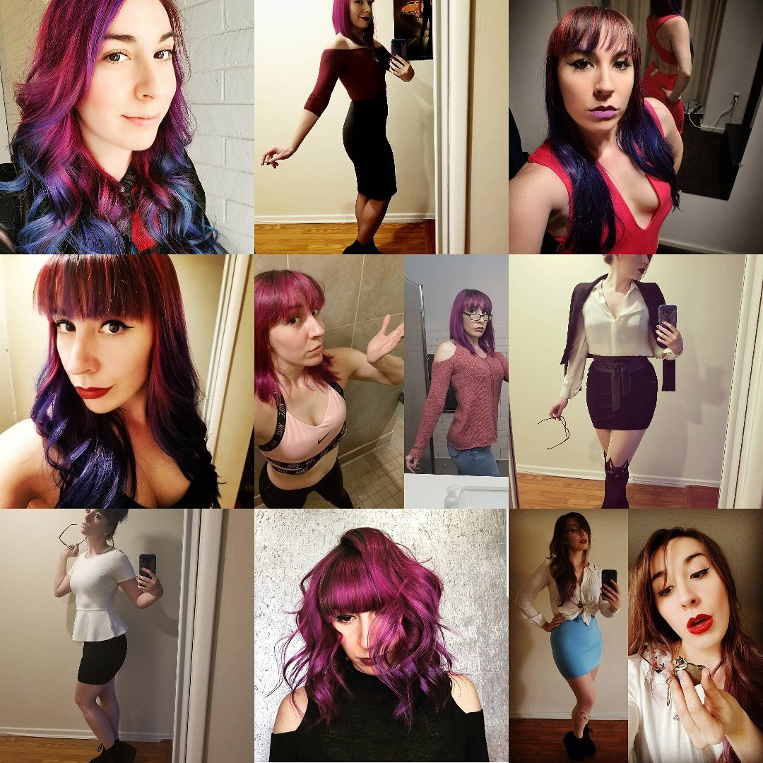Well it's a bit late but here's the #topnine #2018bestnine #bestnine2018...even 1 with me as a brunette lolpic.twitter.com/uN6hBuSstC