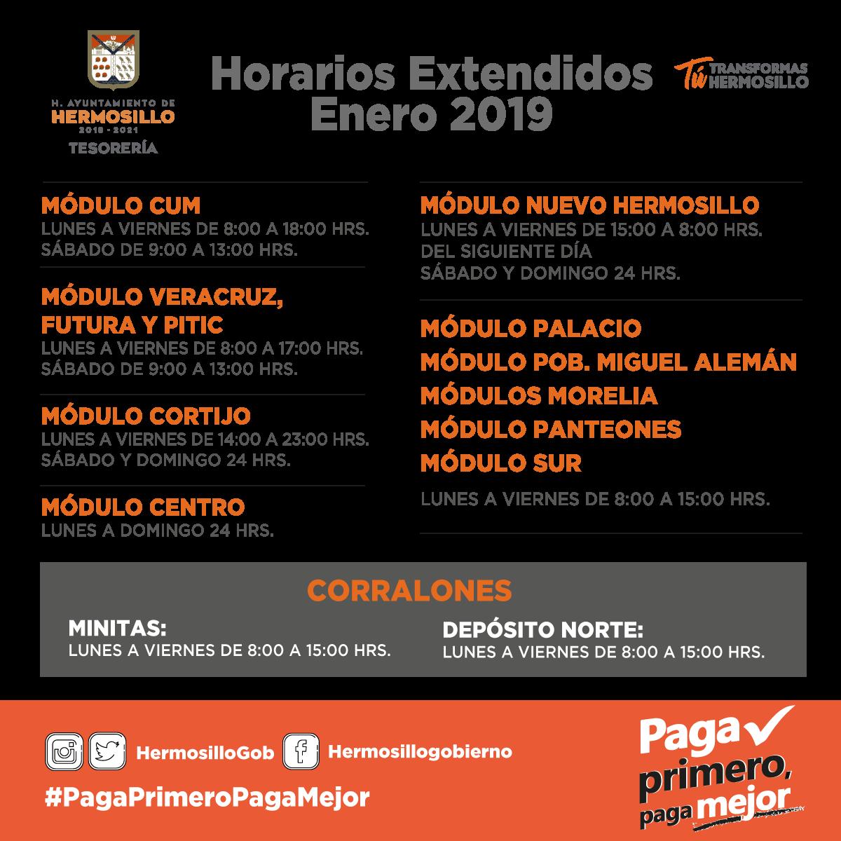 Gob De Hermosillo On Twitter Te Compartimos Los Horarios