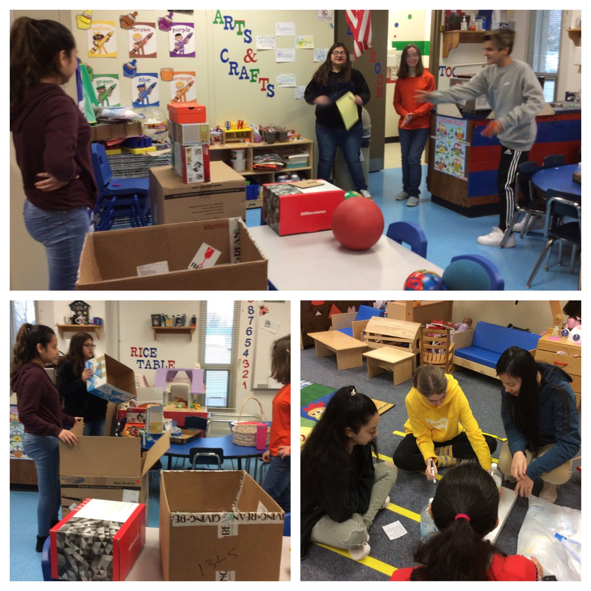 Starting off the new year with an activity requiring teamwork and creativity. Using recycled items to create gross motor games.  Lots of fun! <a target='_blank' href='https://t.co/n0VE8PpTOh'>https://t.co/n0VE8PpTOh</a>
