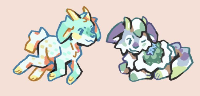 These were for @galestormKitsun and surfingmars @ DA !
