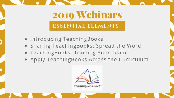 test Twitter Media - Join us for our Essential Elements Series  Learn how to get the most out of TeachingBooks with this four-part webinar series.  Sign up: https://t.co/o4IZWkCwmw https://t.co/Kav2CsuLnj
